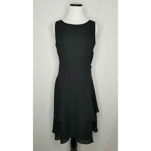 Taylor Dresses - Taylor Black Fit N Flare Ruffle Layered Dress LBD